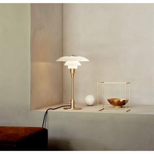 PH 3/2 Bordlampe Limited Edition - ravfarvet + opal glas