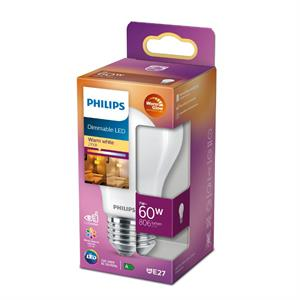 Philips LED Standard E27 - 60W (7W) Dæmpbar Warm Glow