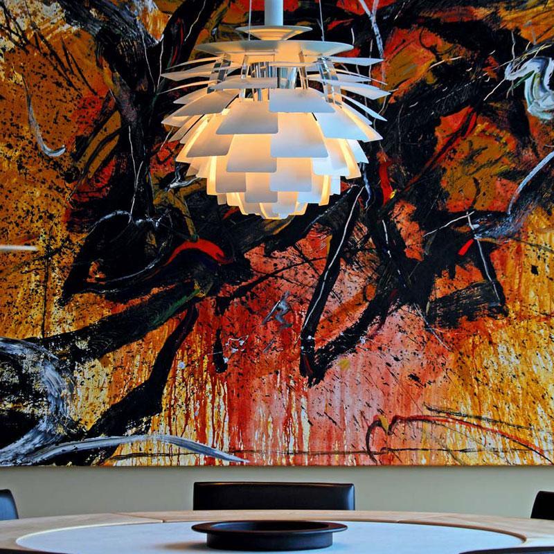 ph kogle 60 cm hvid den flotte hvide ph artichoke lampe fra louis poulsen. Black Bedroom Furniture Sets. Home Design Ideas