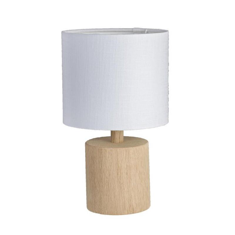 Fantastisk Egetræs bordlampe inc. skærm - KS Lampeskærme CE45