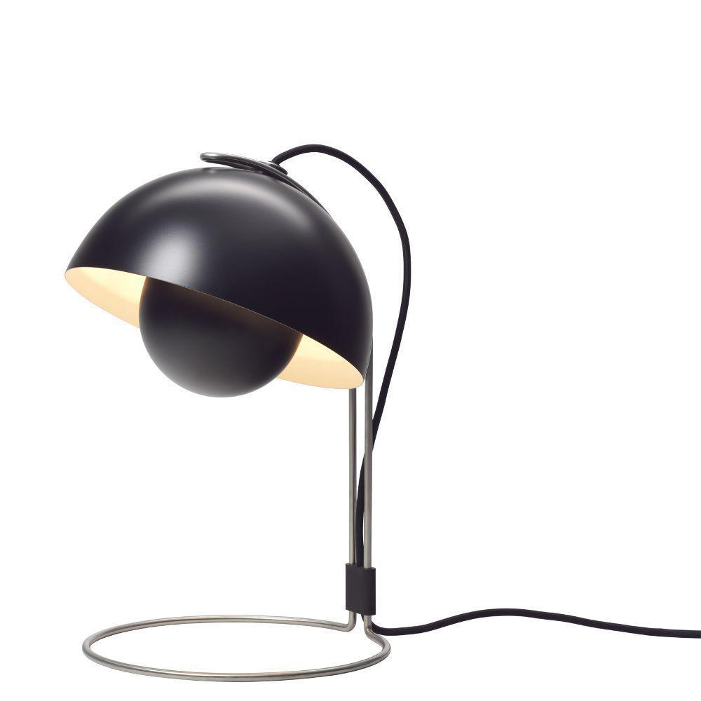 flowerpot vp4 bordlampe sort verner panton. Black Bedroom Furniture Sets. Home Design Ideas