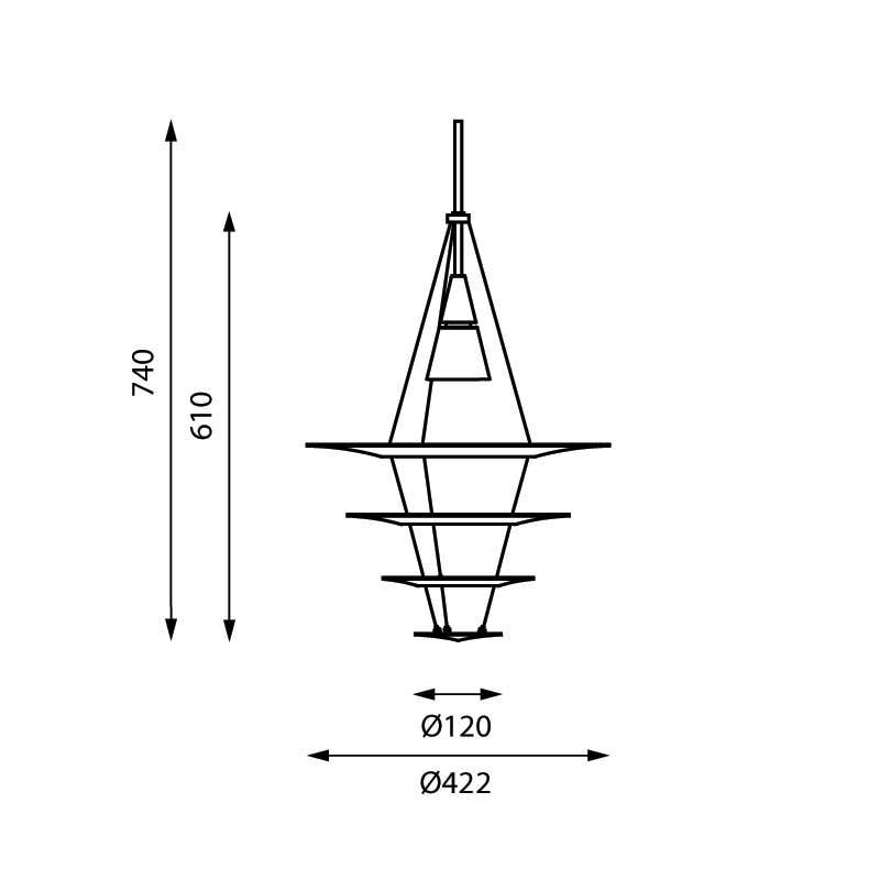 Højmoderne Enigma 425 pendel fra Louis Poulsen - Enigma pendlen sælges her CJ-39
